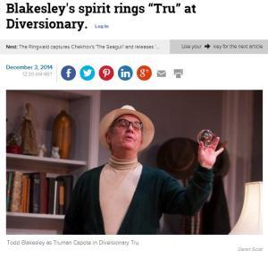 "Blakesley's spirit rings ""Tru"" at Diversionary."