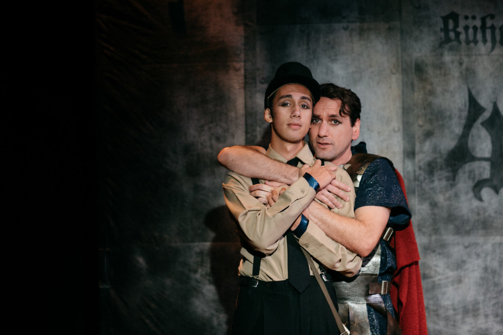 Jewels Weinberg as THE BOY, and John DeCarlo as THE MAN