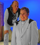 Mike Sears (Silo), Steve Gunderson (Roy) in Diversionary's production of Birds of a Feather ©Ken Jacques