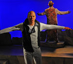 Mike Sears (Silo), Steve Gunderson (Pale Male) in Diversionary's production of Birds of a Feather ©Ken Jacques