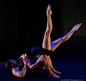 Tethered Choreography: Michael Mizerany Performers: Blythe Barton, Bradley Lundberg