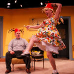 Fred Harlow and Tony Houck in She-Rantulas from Outer Space-in3D! at Diversionary Theatre. Photo ©Daren Scott